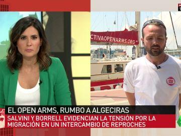 Gerard Canals, coordinador de Operaciones de Proactiva Open Arms, en Al Rojo Vivo.