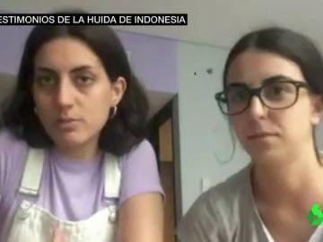 Supervivientes españolas del atentado de Lombok.