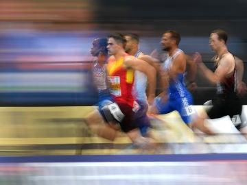 Bruno Hortelano durante los Campeonatos de Europa de Atletismo