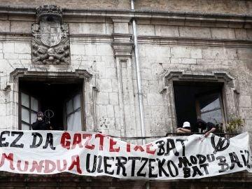 Imagen del  Gaztetxe Maravillas que ha vuelto a ser 'okupado'