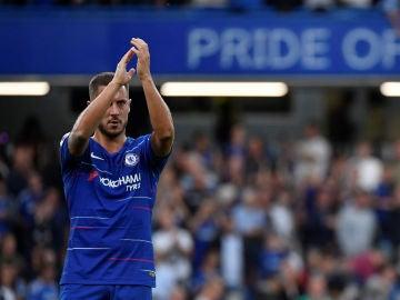 Hazard agradece a la afición del Chelsea su apoyo