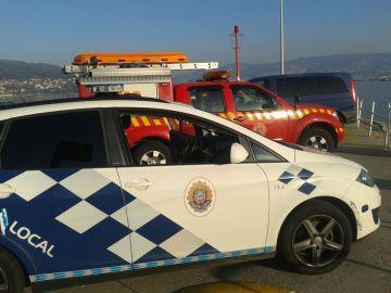 Coche de la policía local de Moaña
