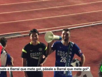 """La afición del Tokushima japonés enloquece con los cuatro goles de David Barral: """"¡Arigato gozaimasu!"""""""