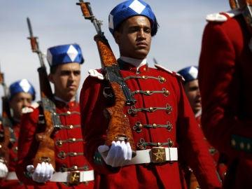 Unidad del Ejército marroquí durante un desfile