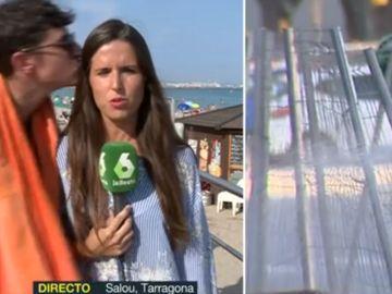 Un joven besa a una reportera de MVT