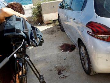 Lugar del asesinato de un hombre en Alicante