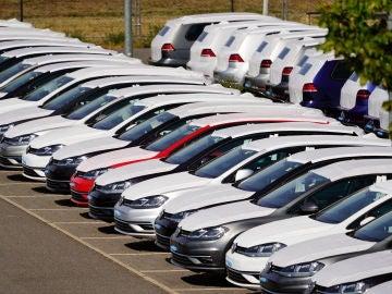 Varios coches de la marca Volkswagen