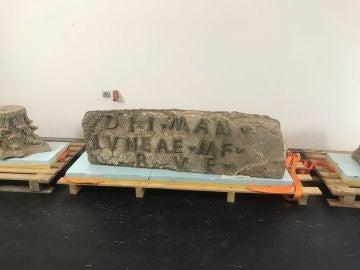 Imagen facilitada por la Junta de Andalucía del hallazgo en el Conjunto Arqueológico de Baelo Claudia