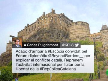 Puigdemont, en Edimburgo para participar en una conferencia sobre Cataluña