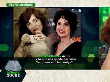 La sorpresa de la actriz Adriana Ozores a Elvira Lindo