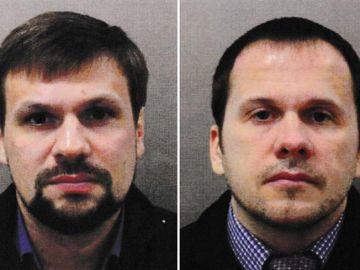 Alexander Petrov y Ruslan Boshirov, sospechosos del envenenamiento del exespía ruso, Sergéi Skripal y su hija.