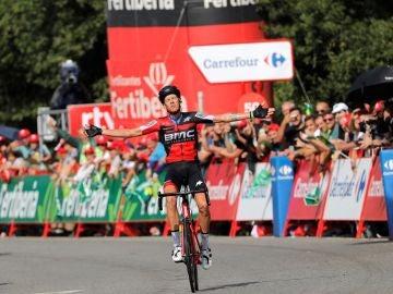 De Marchi celebrando una victoria de etapa