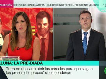 """Joaquim Bosch, sobre las declaraciones de Torra: """"No podrían salir en libertad porque el Parlament no tiene competencias sobre ello"""""""