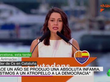 """Ciudadanos organiza un acto de protesta a las leyes de desconexión independentista: """"Hace un año se produjo una infamia"""""""