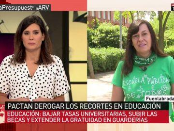 """Sandra Villa: """"Disminuir las horas lectivas de los profesores nos dará más calidad educativa"""""""