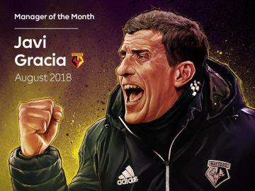 Javi Gracia, entrenador del mes de agosto de la Premier