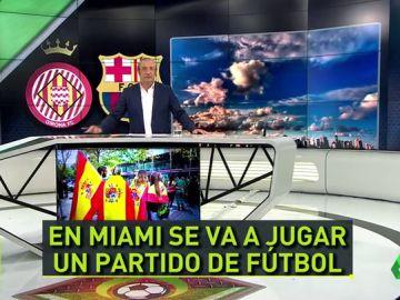 """Josep Pedrerol: """"En Miami sólo habrá banderas del Barça y alguna del Girona"""""""