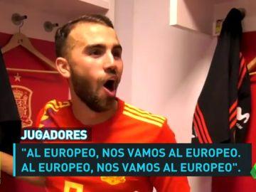 La Selección Española Sub-21 celebró por todo lo alto la clasificación para el Europeo