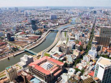Vista panoramica de la ciudad de  Ho Chi Minh