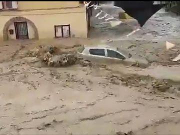 Imagen de la espectacular riada en Cebolla