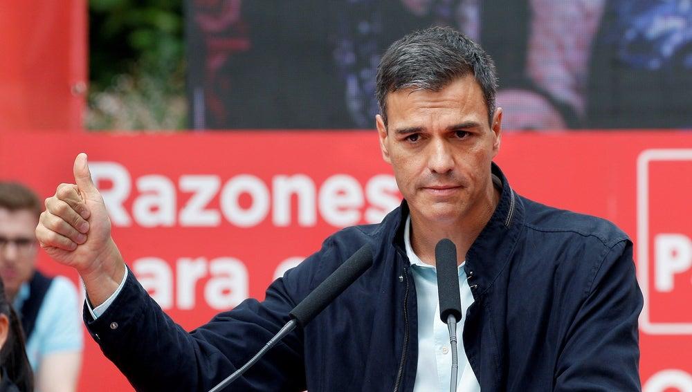 Pedro Sánchez en primer acto político tras 100 días de Gobierno