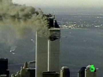 Imagen del momento del atentado de las Torres Gemelas