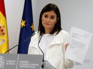 Carmen Montón en rueda de prensa