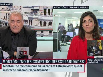 """Raquel Ejerique, sobre las explicaciones de la ministra: """"Nos dijo que fue a todas las clases. O nos ha mentido a nosotros o ha mentido a toda la prensa"""""""