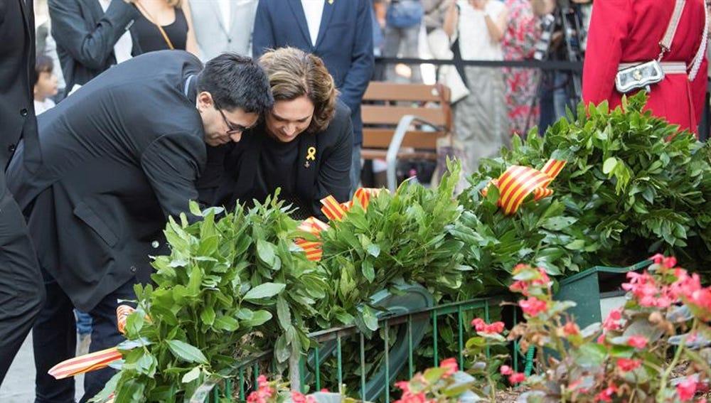 La alcaldesa de Barcelona, Ada Colau y el teniente de alcalde Gerardo Pisarello