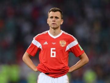 Cheryshev, con la selección rusa