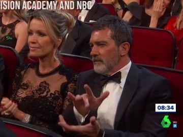 """María Estévez responde al porqué de la forma de aplaudir de Antonio Banderas en los Emmy: """"Él es muy flamenco"""""""