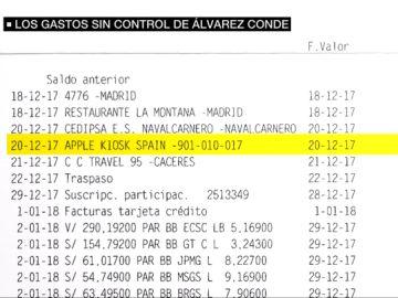 Los gastos sin control de Álvarez Conde