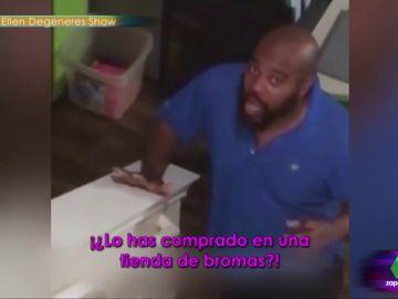La divertida reacción de un hombre al enterarse de que va a ser padre