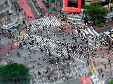 Paso diagonal de Shibuya, Japón