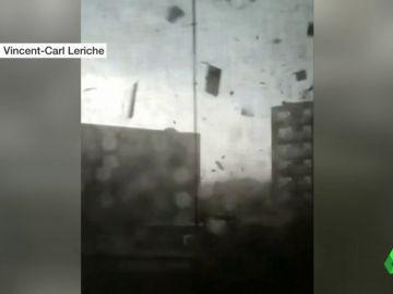 Imagen de las consecuencias del tornado en Ottawa