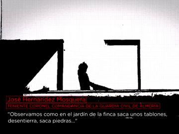 Ana Julia Quezada arrastrando un tablón donde escondió el cuerpo de Gabriel Cruz