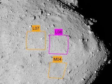 Imagen del aterrizaje en un asteroide