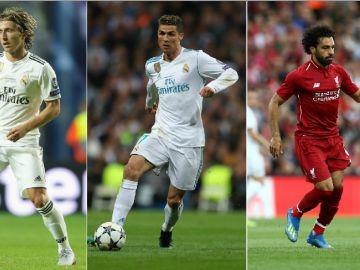 Modric, Cristiano y Salah, nominados al premio The Best 2018