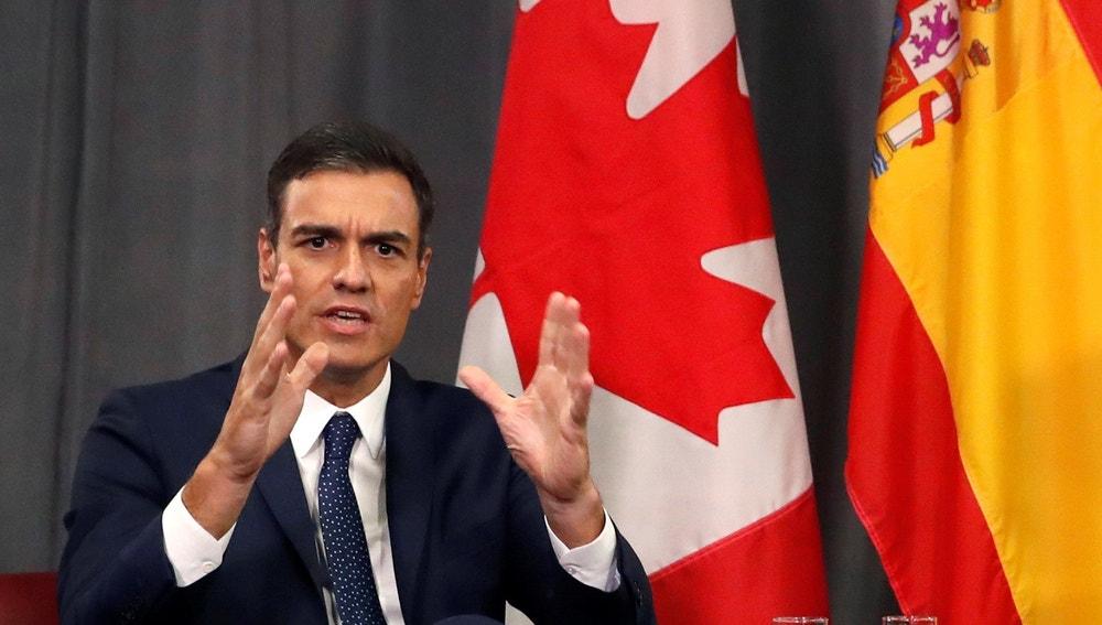 Pedro Sánchez en Canadá