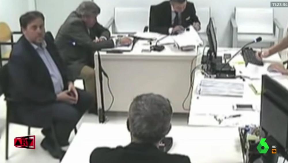 Oriol Junqueras declarando frente a la jueza