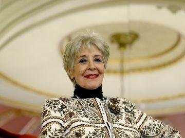 """La actriz Concha Velasco durante la presentación de la obra de teatro """"El funeral"""" en Bilbao"""