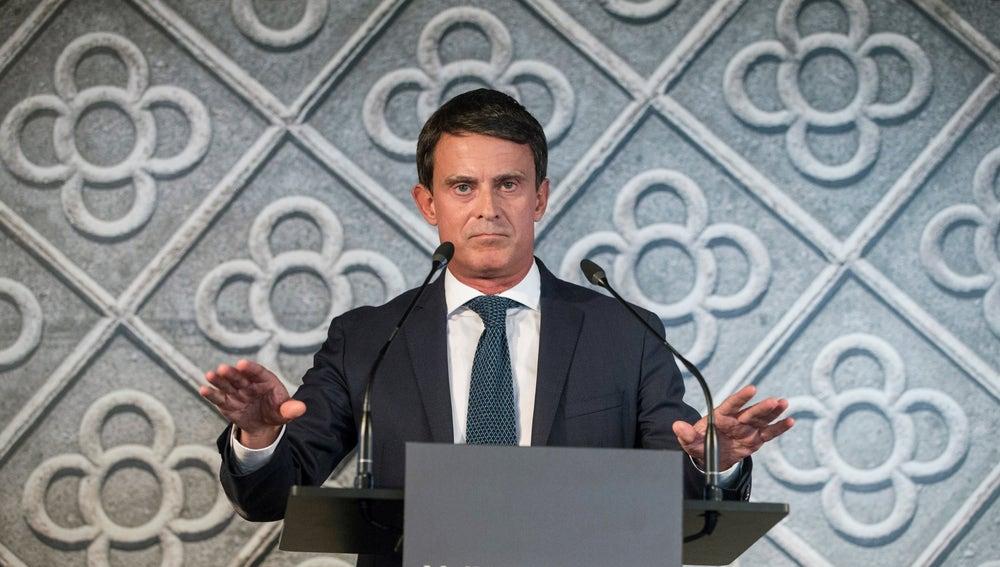 El exprimer ministro francés Manuel Valls en un acto