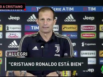 """Allegri: """"Cristiano ha mostrado su profesionalidad tanto dentro como fuera del campo durante toda su carrera"""""""