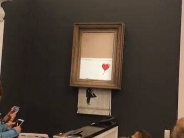 El cuadro de Banksy autodestruyéndose