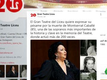 Su querido Liceo, La Scala de Milán, el Royal Opera… los teatros y el mundo de la ópera despiden a Montserrat Caballé