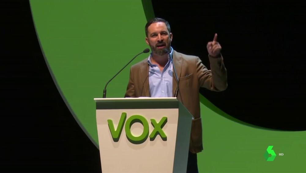 """Santiago Abascal, presidente de VOX: """"Desbordaremos las urnas cuando a España le vuelvan a dar la voz que se le ha arrebatado"""""""