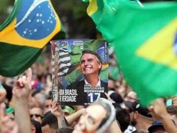 Manifestación a favor del ultraderechista Bolsonaro