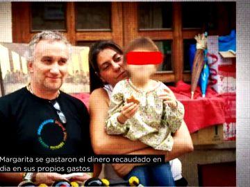 Imagen de los padres de Nadia junto a la menor