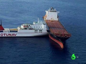 Un buque se empotra contra otro frente a Córcega