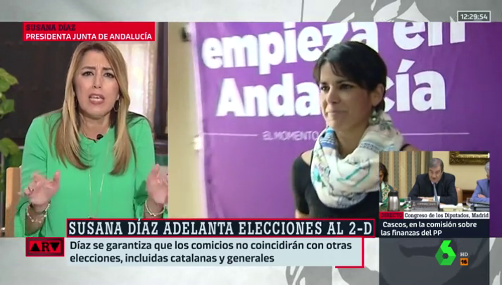 Susana Díaz, en Al Rojo Vivo